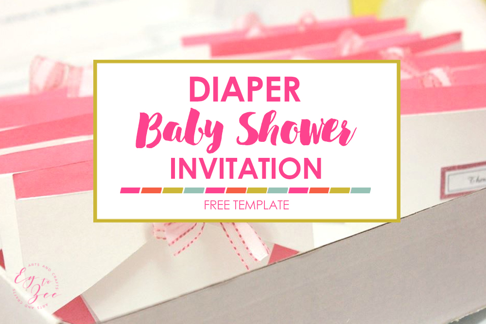 diaper invitation for baby shower