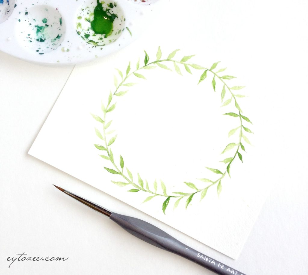 How to draw single layered wreath