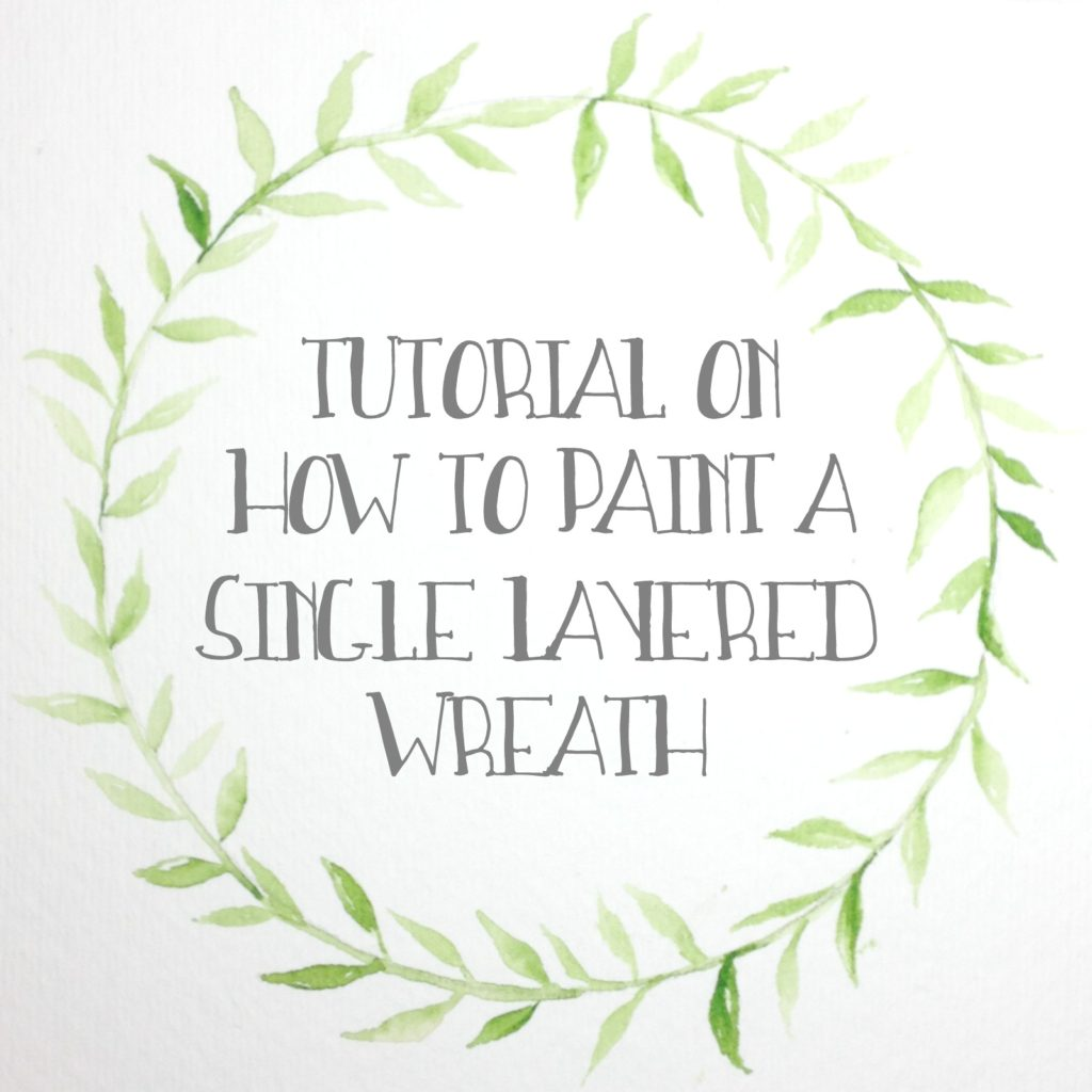 How to paint wreath