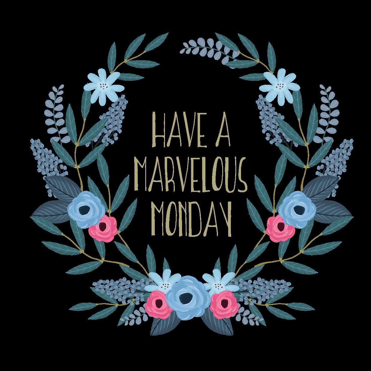 Marvelous monday floral wreath