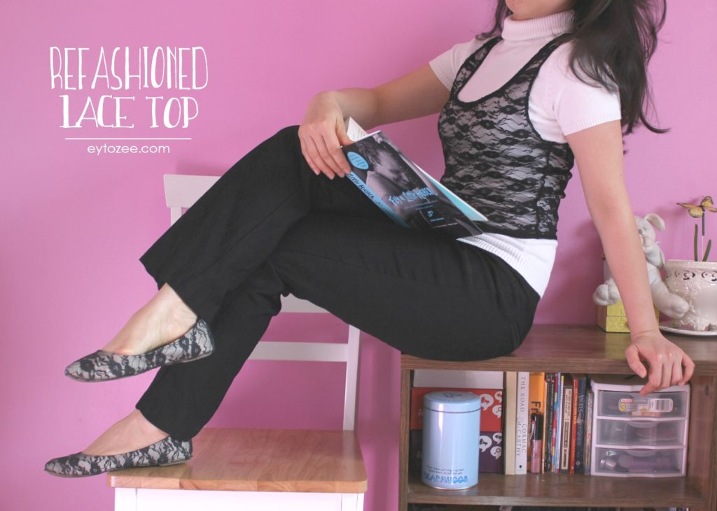Refashioned lace top
