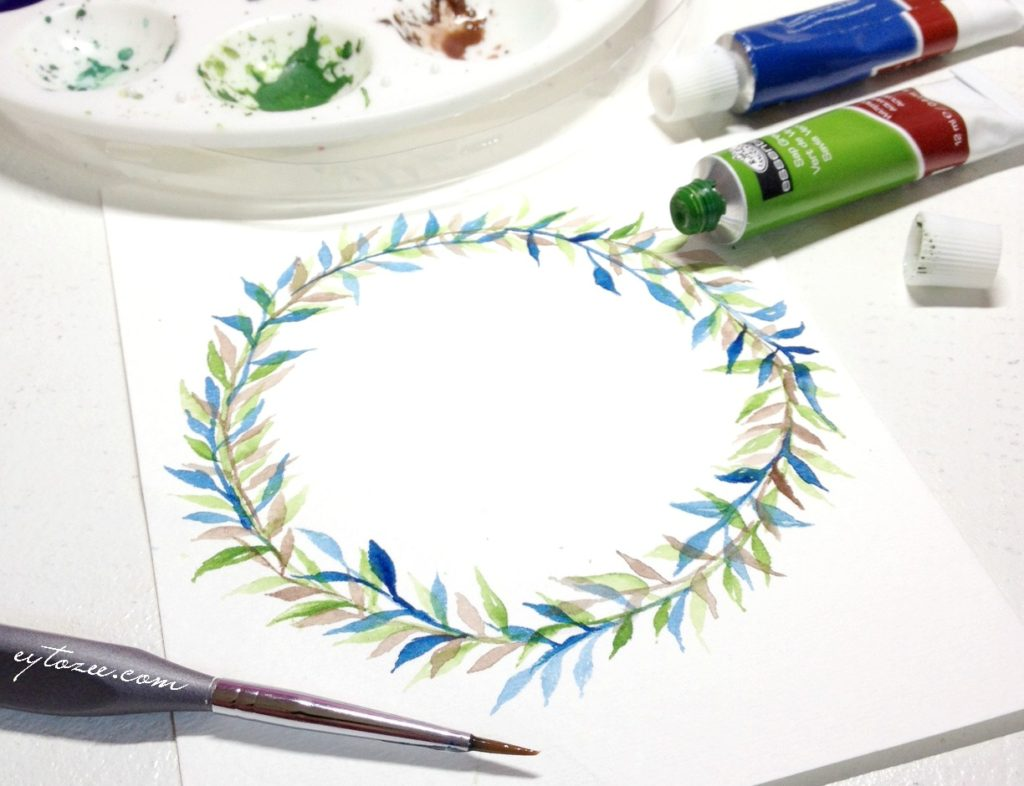 multiple layered wreath