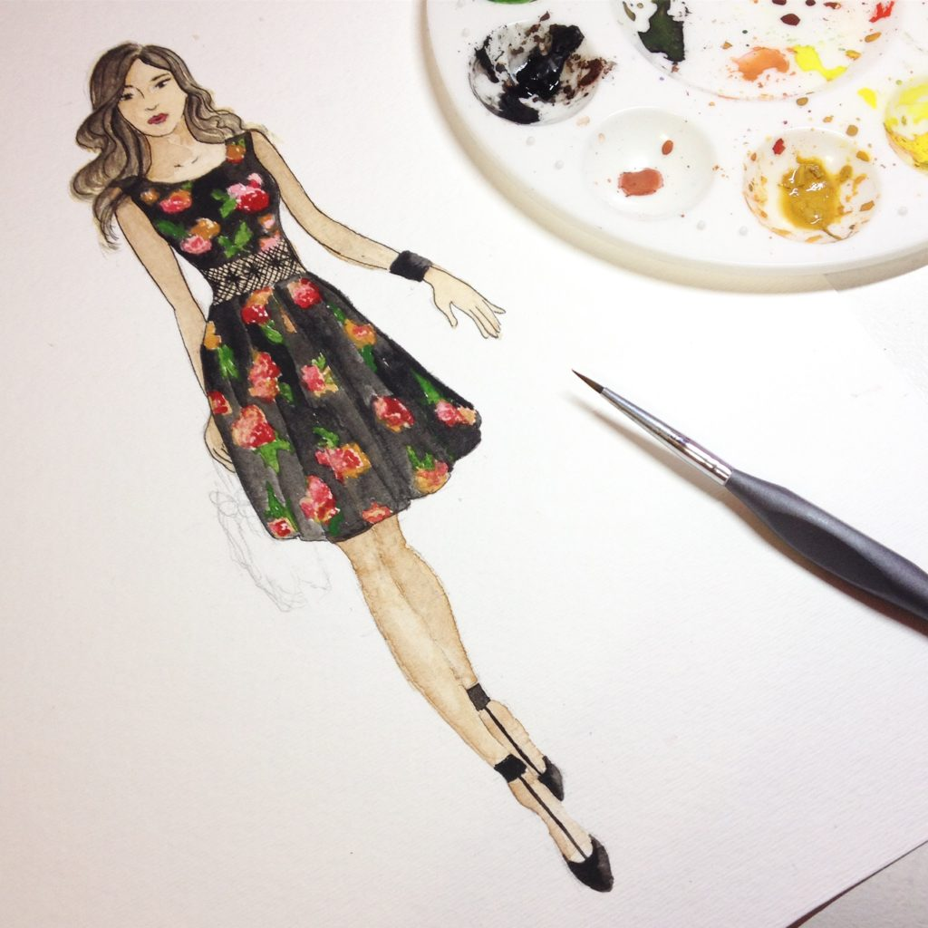 Fashion Illustration in watercolor