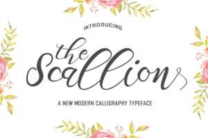 The Scallion typeface