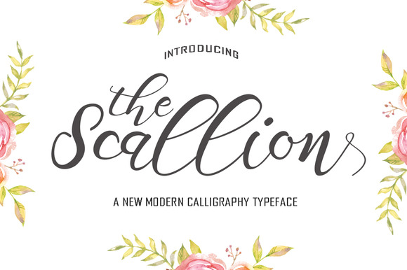 The Scallion typeface