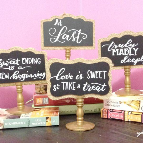 Wedding Signboards for William and Felicidad