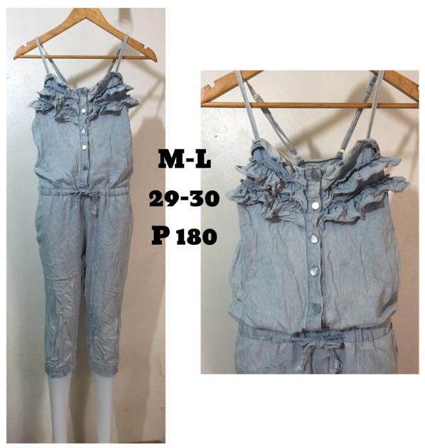 chic denim onesie