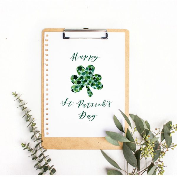 Free Printable Shamrock Leaf for St. Patrick's Day