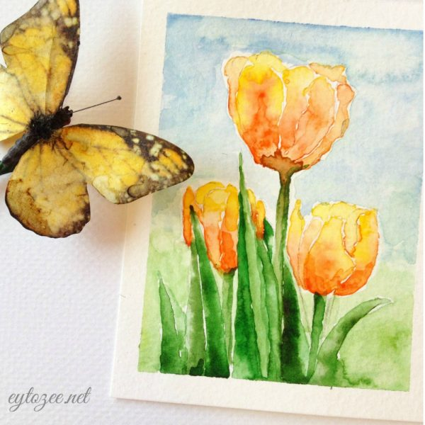 Free Tulip Printable Card