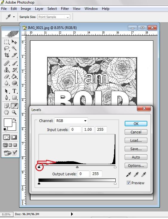 digitize pen drawing using photoshop