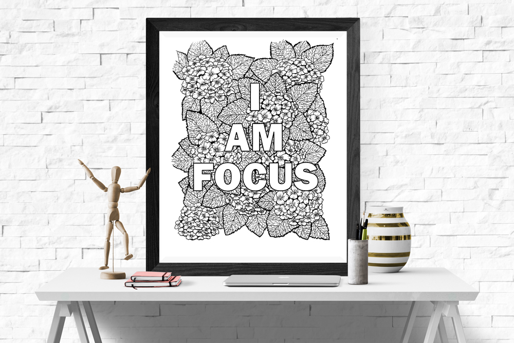 I am focus coloring page