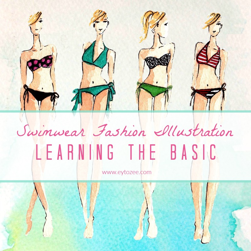Swimwear Fashion Illustration