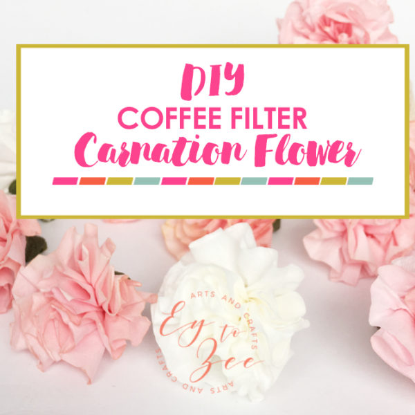 Coffee Filter Carnation Flower DIY