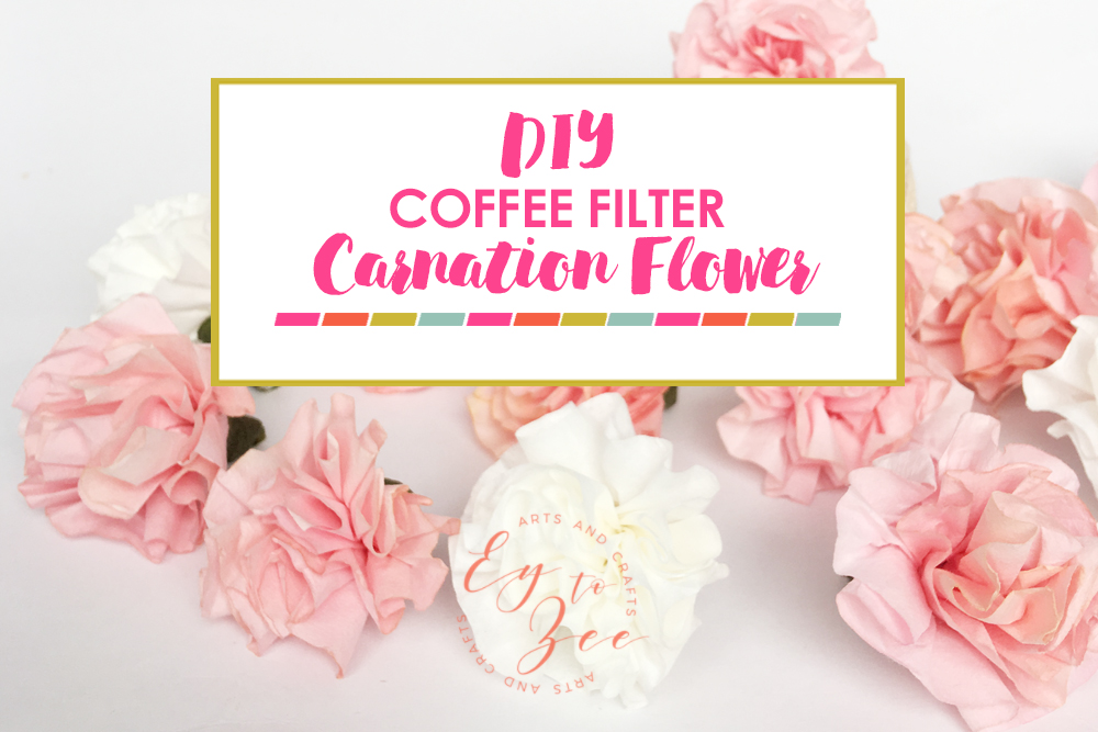 COFFEE FILTER CARNATION FLOWER
