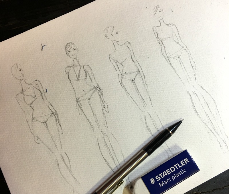 swimwear fashion illustration learning the basic