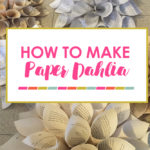 Baptism Backdrop Idea and DIY Dahlia Flower