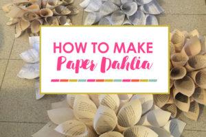 Baptism Backdrop Idea and DIY Dahlia Flower