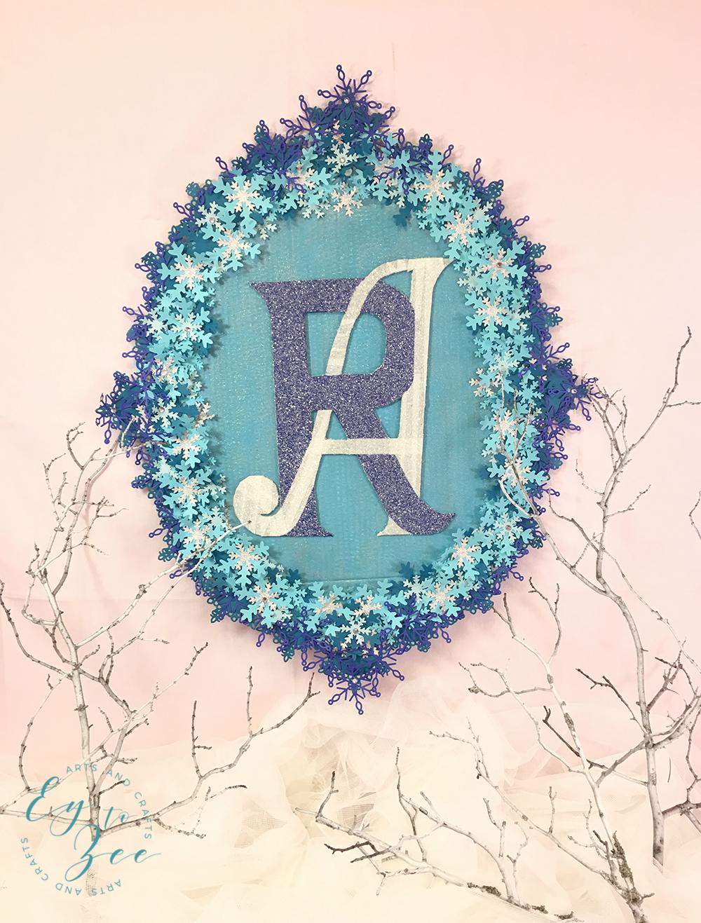 frozen-inspired monogram