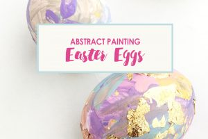 Abstract Painting Easter Eggs