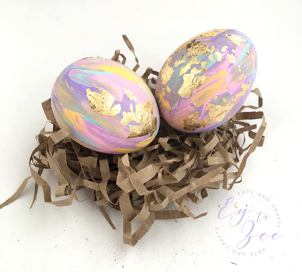 abstract painting easter egg