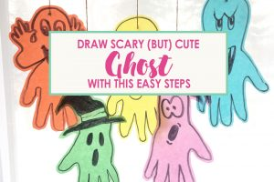 Draw Scary (But Cute) Hanging Ghost with This Easy Steps