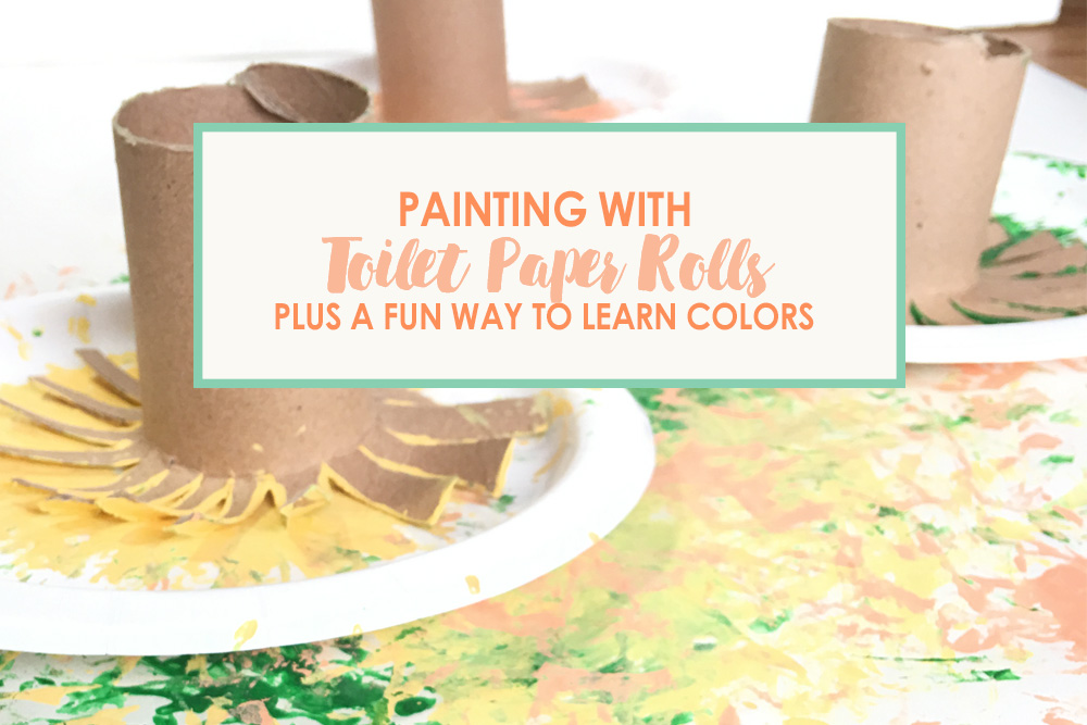 Painting with Toilet Paper Roll