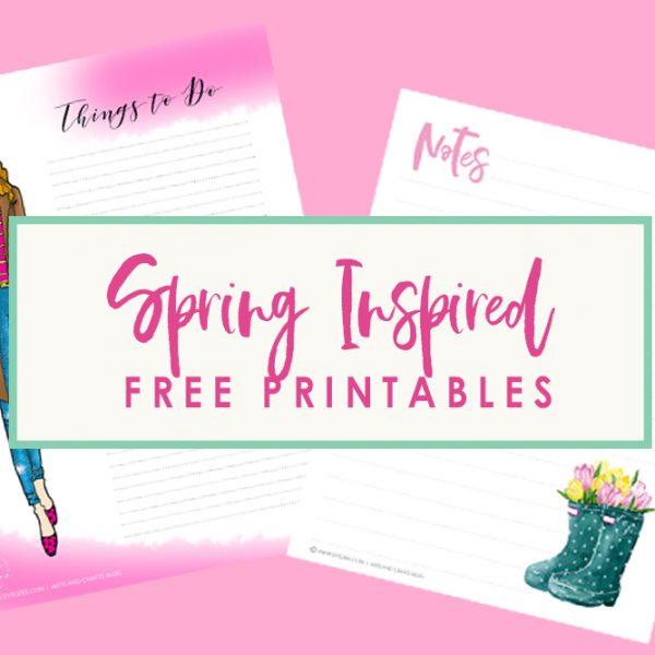 Free Spring Inspired Printables