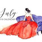 July 2018 Calendar Freebie
