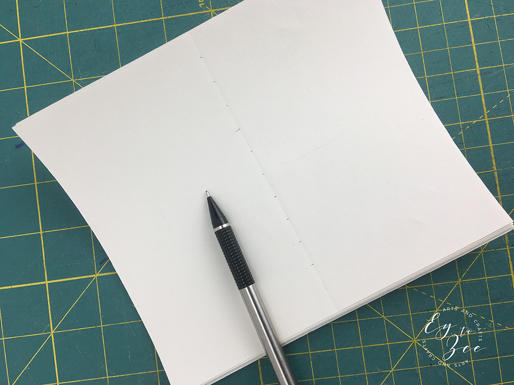 DIY mini jotter notebook