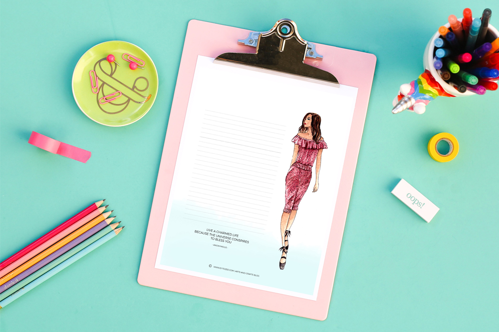 Free Fashion Stationery Printable