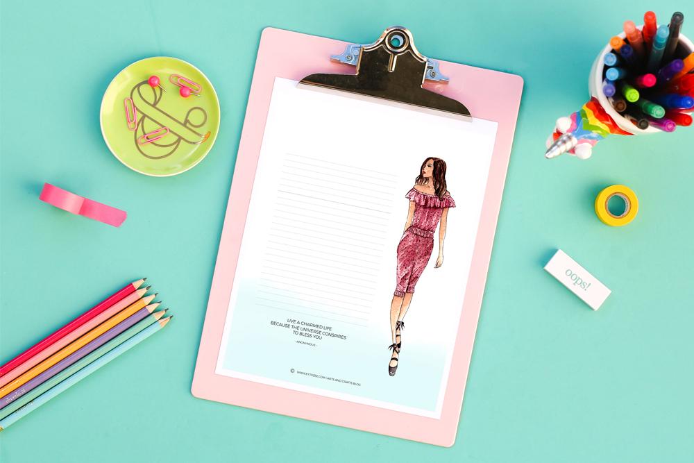 Free Fashion Stationery Printable