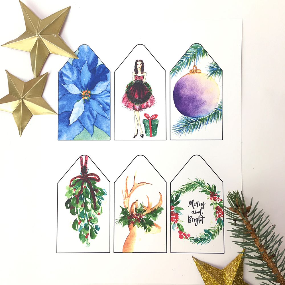 Free December 2018 Calendar Planner and Gift Tags Printables