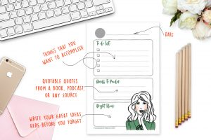Free Printable Productivity Notepad