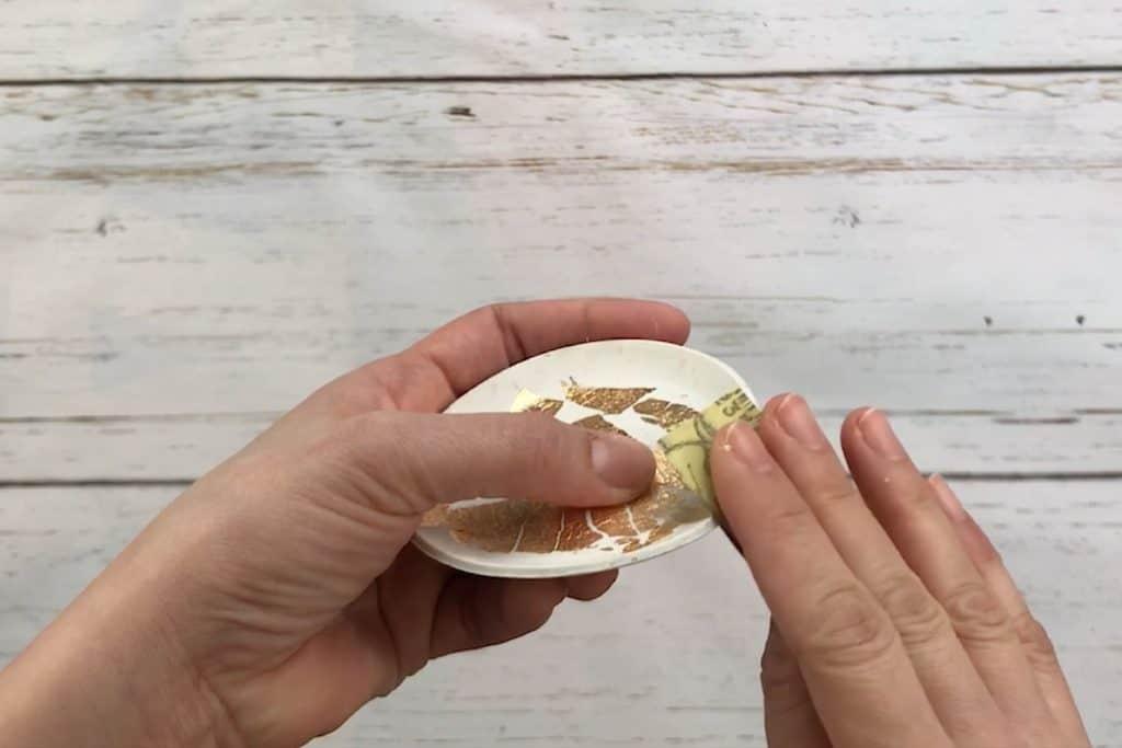 Sanding polymer clay trinket dish