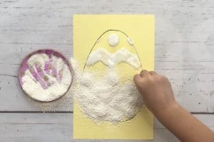 Crushed Eggshell Art