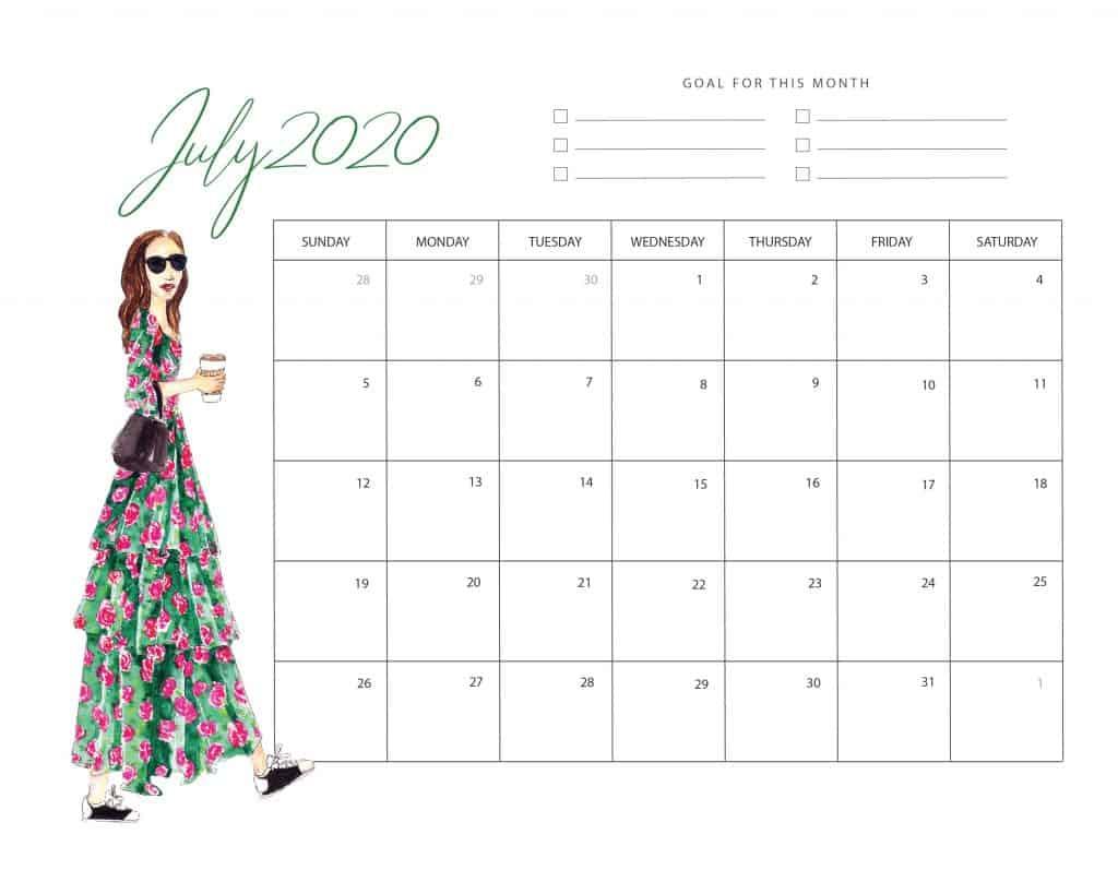 July 2020 Planner