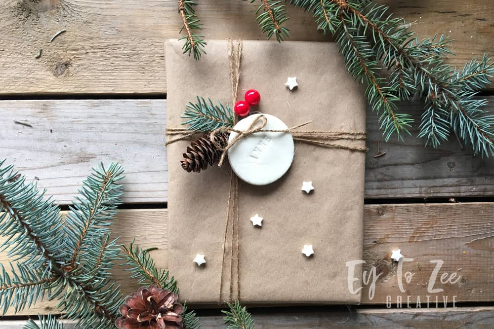 Gift tags using air dry clay