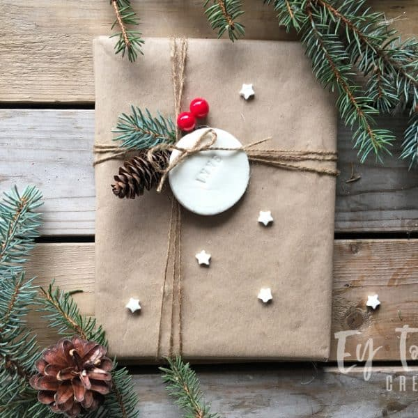 DIY Air Dry Clay Christmas Ornaments and Gift Tags
