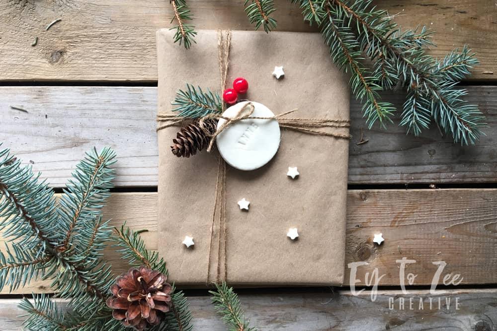 Gift tag using air dry clay