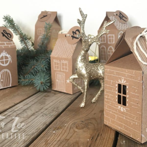 How to Make Cute Little Houses Advent Calendar