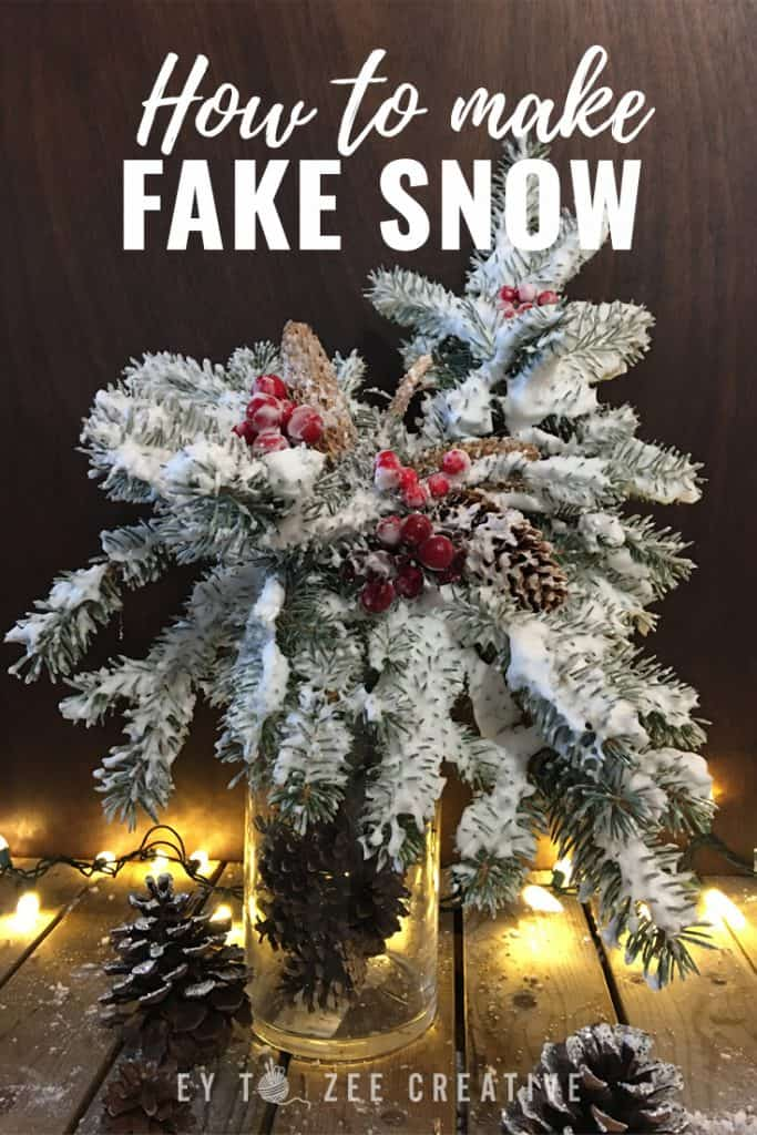 How to make fake snow